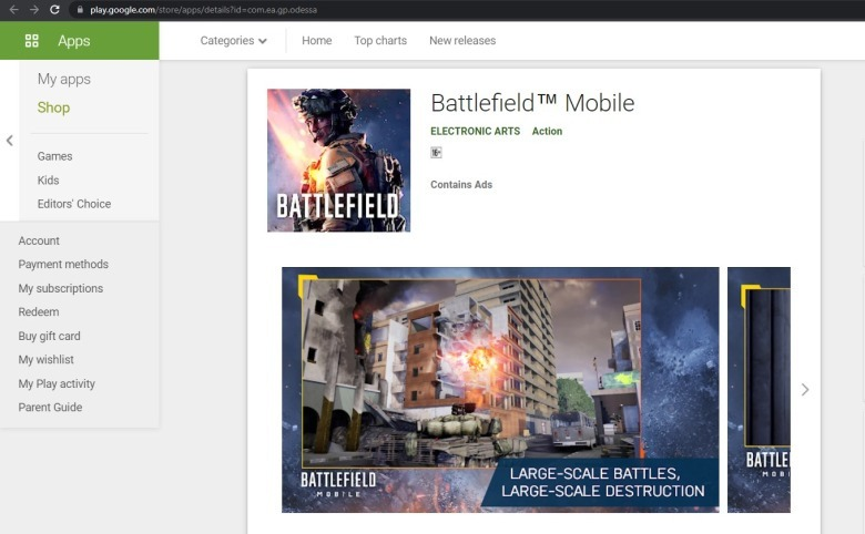 Cách tải file APK game Battlefield Mobile cho Android